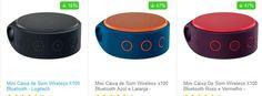 Mini Caixa de Som Wireless Logitech X100 Bluetooth - 3 Cores Disponíveis << R$ 9499 >>
