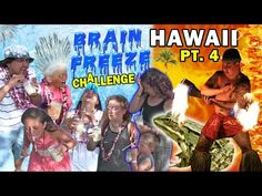 BRAIN FREEZE CHALLENGE @ LUAU in HAWAII w/ Fire Show (FUNnel Vision Trip - Maui Part 4) #FROGGY - YouTube