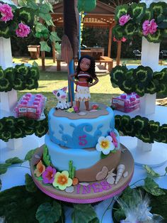Beautiful Moana Cake !!