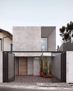 New House Luxury Exterior Facades 25 Ideas Minimalist Architecture, Modern Architecture House, Modern House Design, Amazing Architecture, Interior Architecture, Modern Tropical House, Facade Design, Exterior Design, Modern Exterior
