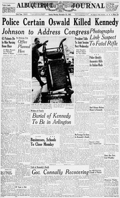 Newspaper Front Pages, Kennedy Assassination, Dallas Morning News, John Kennedy, Texas History, Jfk, The Good Old Days, Trains, Magazines