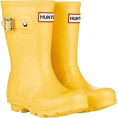 kids hunter wellies yellow boots- can't wait until Sasha can wear these! Yellow Wellies, Yellow Boots, Kids Hunter Wellies, Hunter Boots, Baby Hunter, Hunter Kids, Toddler Fashion, Kids Fashion, E Claire