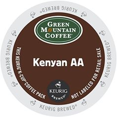 Green Mountain Coffee Kenya formerly known as Kenyan AA KCup Portion Pack for Keurig Brewers 24Count Packaging May Vary -- More info could be found at the image url. (This is an affiliate link and I receive a commission for the sales)