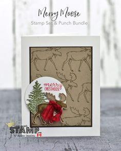 Canadian Christmas, Christmas Moose, Christmas 2019, Christmas Bingo, Stampin Up Christmas, Handmade Christmas, Stamped Christmas Cards, Xmas Cards, Holiday Cards