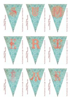 Wings of Whimsy: Summertime Bunting Vintage Style - free for personal use
