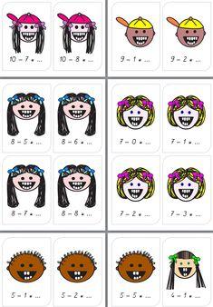 la soustraction: les dents tombées! 1st Grade Math, Math Class, Grade 1, Montessori, Math Addition, Home Activities, Teaching, Games, School