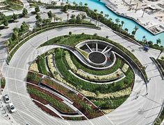 Burj Khalifa Park by SWA Group in Dubai. SWA Group is an international landscape architecture, planning, and urban design firm with offices around the world . Landscape Design Plans, Landscape Concept, Landscape Architecture Design, Contemporary Landscape, Modern Architecture, Architecture Diagrams, Architecture Portfolio, Park Landscape, Urban Landscape