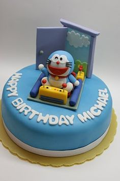 **** Each product is hand modeled by me. No mold is used. Each piece of artwork is unique and has its own personality. Fancy Cakes, Cute Cakes, Doraemon Cake, Aniversary Cakes, Baby Birthday Cakes, Character Cakes, Gorgeous Cakes, Cakes For Boys, Fondant Cakes