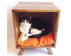 Cat Bed Mid Century Modern Tables Midcentury door VintageHouseCoruna