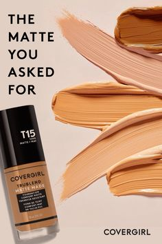 A  fresh  formula  with  a  flawless  finish.  COVERGIRL  TruBlend  Matte  Made  Liquid  Foundation  is  designed  to  minimize  pores,  keep  oil  under  control  and  stay  put  all  day  long.  Shop  40  shades  and  find  your  comfort  matte. Makeup Goals, Makeup Tips, Hair Makeup, Eye Makeup, Ash Blonde Hair, Eyes Lips Face, Beauty Make Up, Hair Beauty, Everyday Makeup Routine