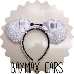 Baymax Big Hero 6 white sparkle Minnie Ears.  https://www.etsy.com/listing/217298858/baymax-minnie-ears?ref=shop_home_active_5