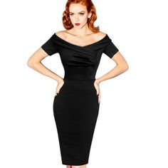 Save with ZillyChic on this Black Vintage Elegant Pencil Dress. Save on all Women's Outerwear and Blouses with ZillyChic and get Free Shipping Worldwide. ZillyChic offers the newest selection of women