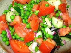 A tarragon vinaigrette adds just the right touch to this Pea and Cucumber Salad.