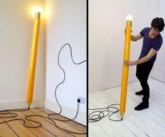 HB Pencil Lamp   DudeIWantThat.com