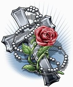 Cross with roses tattoo  TATOOS3  Pinterest  Tattoo Tatting