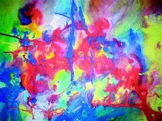 """Elizabeth Morales, """"Introspección"""", 100 x 70 cms, tempera and watercolor on paper . Es una de las obras presentadas en mi segunda exposición. This art piece of mine was shown in my second exhibition."""