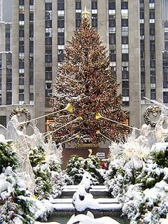 Rockefeller Center Christmas tree, New York - one of the best places to be during the holidays!