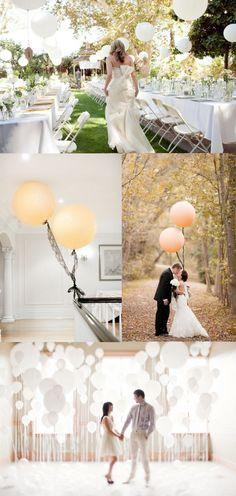 White balloons...easiest DIY decoration :) :) :)