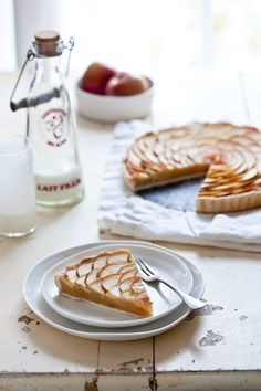 Thin Apple Tart - careful placement of the thinly sliced apples makes this look like a rose!