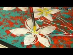 how to paint abstract flowers by mont marte - Buscar con Google