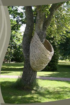 Woven sculpture by Laura Ellen Bacon