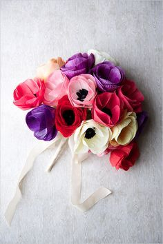 Learn how to DIY this anemone wedding bouquet with Creativebug