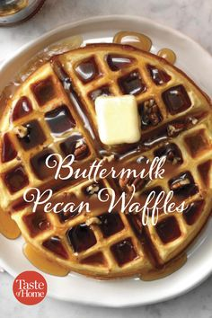 Buttermilk Pecan Waffles Buttermilk Pecan Waffles Source by taste_of_home Breakfast Waffles, What's For Breakfast, Breakfast Dishes, Breakfast Recipes, Mexican Breakfast, Pancake Recipes, Breakfast Sandwiches, Pancakes, Easy Waffle Recipe
