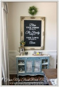 42 Ideas farmhouse dining room hutch front porches for 2019 French Farmhouse, Farmhouse Decor, Farmhouse Buffet, Farmhouse Style, Dining Room Hutch, Dining Area, Painted Furniture, Diy Furniture, Above Cabinets