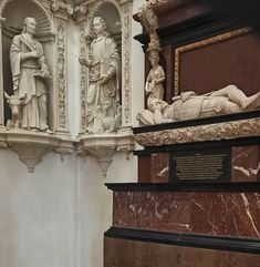 Tarnowski Chapel (Holy Trinity Chapel) of the Łowicz Cathedral built between 1609-1611 by workshop of Kasper Fotyga with a mannerist marble tombstone of Piotr Tarnowski, father of Primate Jan Tarnowski, by Willem van den Blocke (created after 1604) and sandstone statues of Evangelists by Samuel Świątkiewicz. The chapel was founded by Jan Tarnowski (1550-1605) of Rola coat of arms, Primate between 1603-1605. © Marcin Latka #17thcentury #artinpl #sculpture #gdansk #checiny #mannerism