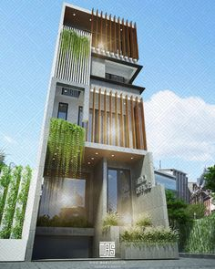 3 Storey House Design, Bungalow House Design, House Front Design, Small House Design, Modern House Design, Condominium Architecture, Modern Architecture House, Facade Architecture, Dream House Exterior