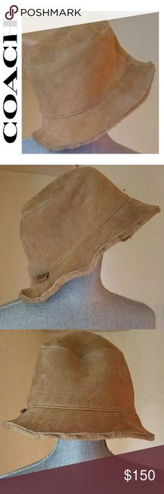 Limited Edition Coach Suede Bucket Hat *Size M/L *Heavenly Soft  *100% Lamb Shearling  *Style: Bucket Hat  *Color: Tan Suede  *Retail: $450 (don't recall the exact price). I do remember that I also purchased the matching suede furry boots and that the set totaled around $1,500.00  *1000% Authentic; purchased from Nordstrom.   *Impeccable Condition; only worn less than a handful of times 💗 Coach Accessories Hats