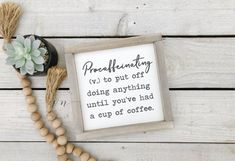 Procaffeinating Sign - Coffee Bar Sign - Coffee Drinker Sign - Coffee Lover - Kitchen Coffee Sign - But First Coffee House Rules Sign, Coffee Bars In Kitchen, Wood Block Crafts, Coffee Bar Signs, Family Name Signs, Coffee Drinkers, But First Coffee, Porch Signs, Rustic Style