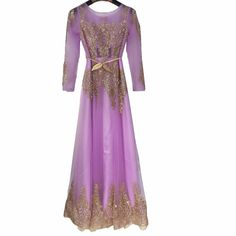 39a1df2a2db Robe De Soiree Purple Pink Gold Beaded Sparkly Long Sleeve Dubai Muslim Evening  Dresses Mother of the Bride Formal Prom GownGT77-in Evening Dresses from ...