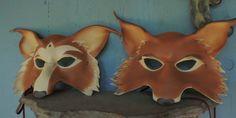Mr and Mrs fox masks