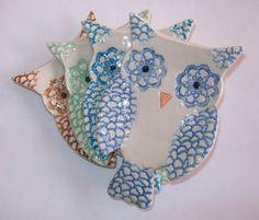 ceramic owl tea bag holders set of 4