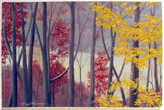 landscape paintings for beginners - Google Search Beautiful Landscape Paintings, Custom Framing, Framed Art, Original Paintings, Fall Landscape, Prints, Walls, Inspiration, Google Search