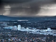 Turbulent week in politics = Turbulent sky, Canberra.  Submitted by: @FlanneryDavid  May 11, 2012