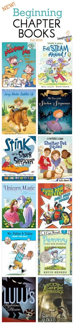 Entertaining beginning chapter books via @imaginationsoup. Stink! is always a great choice. We love him and his sister Judy Moody.