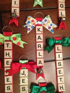 Scrabble Ornaments....these are the BEST Christmas Ornament ideas!