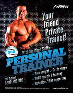 Fitness Flyer Bundle #Fitness, #Flyer, #Bundle Free Business Card Design, Fitness Flyer, Sports Flyer, Muscle Training, Photo Link, Diet And Nutrition, Get In Shape, Build Muscle, Personal Trainer