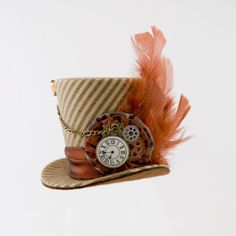 Brown Mini Top Hat Mad Hatter Burlesque hat by MiniTopHatBoutique, $42.99