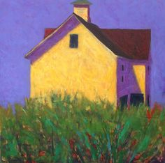summer light ~ oil ~ by peter batchelder Abstract Landscape, Landscape Paintings, Abstract Art, House Painting, Painting & Drawing, Painting Grass, Illustrations, Illustration Art, Paintings I Love