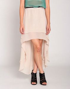 #2020AVE                  #Skirt                    #Double #Shear #Skirt #Beige #with #Belt            Double the Shear Skirt in Beige with Belt                                     http://www.seapai.com/product.aspx?PID=821269