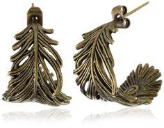 Feather Hoop Earrings accessories