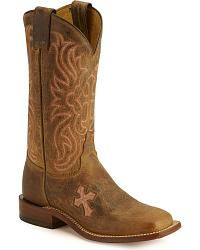 Tony Lama Cross Inlay Cowgirl Boots - Square Toe - Sheplers ✖️I NEED!✖️