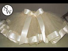 DIY Tulle Skirt with Satin Trim!