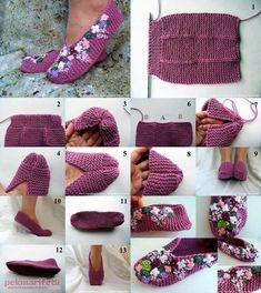 Are you on the hunt for a Knitted Slippers Pattern? You are going to love this collection that includes lots of popular free patterns that are super easy. Loom Knitting, Knitting Socks, Knitting Patterns Free, Knit Patterns, Free Knitting, Free Crochet, Knit Crochet, Crochet Gratis, Crochet Girls