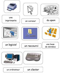 Informatique (1) Teaching Vocabulary, Teaching Tools, Teaching Kids, French Teacher, Teaching French, Computer Basics, French Education, Core French, French Classroom