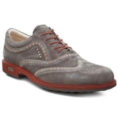 1f665d23e67c ECCO Tour Hybrid Wingtip Men s Golf Shoe - Dark Clay