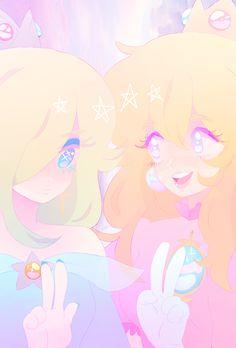 Princess Peach and Rosalina